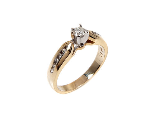 14k yellow gold diamond solitaire ring 0.25ct