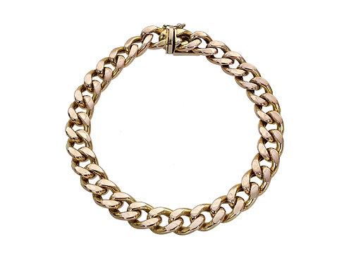 9ct Gold Curb Bracelet 13.5g
