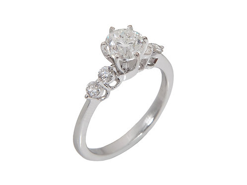 18ct White Gold Diamond Solitaire Ring 1.05ct