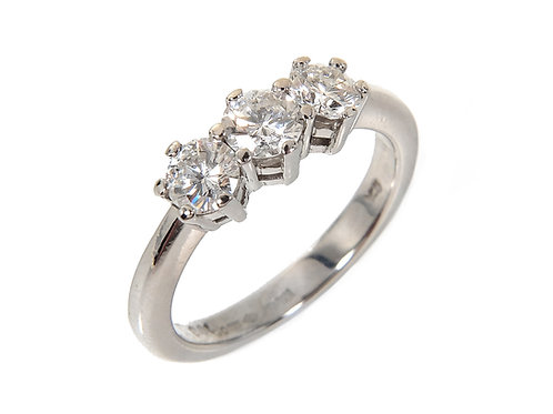 Platinum Diamond Trilogy Ring 1.00ct