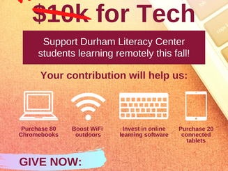 Support Our $10k for Tech Campaign!