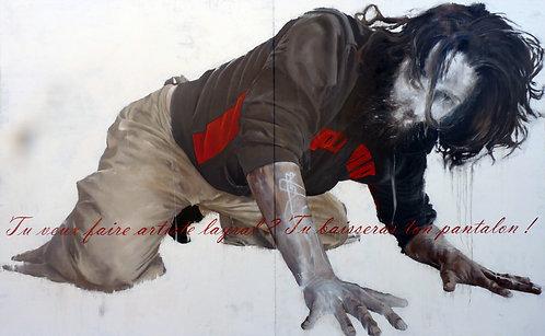566 RETRO BERNARD 2012, Huile sur toile, 400x250