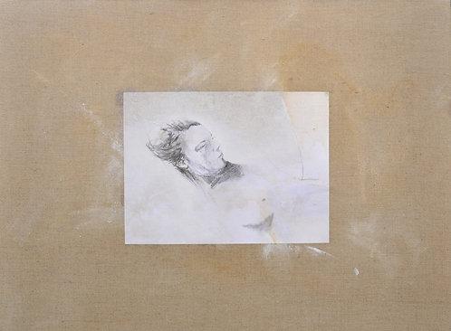649 INTIMATE SOPHIE 2013, Graphite sur papier marouflé sur toile, 73x54