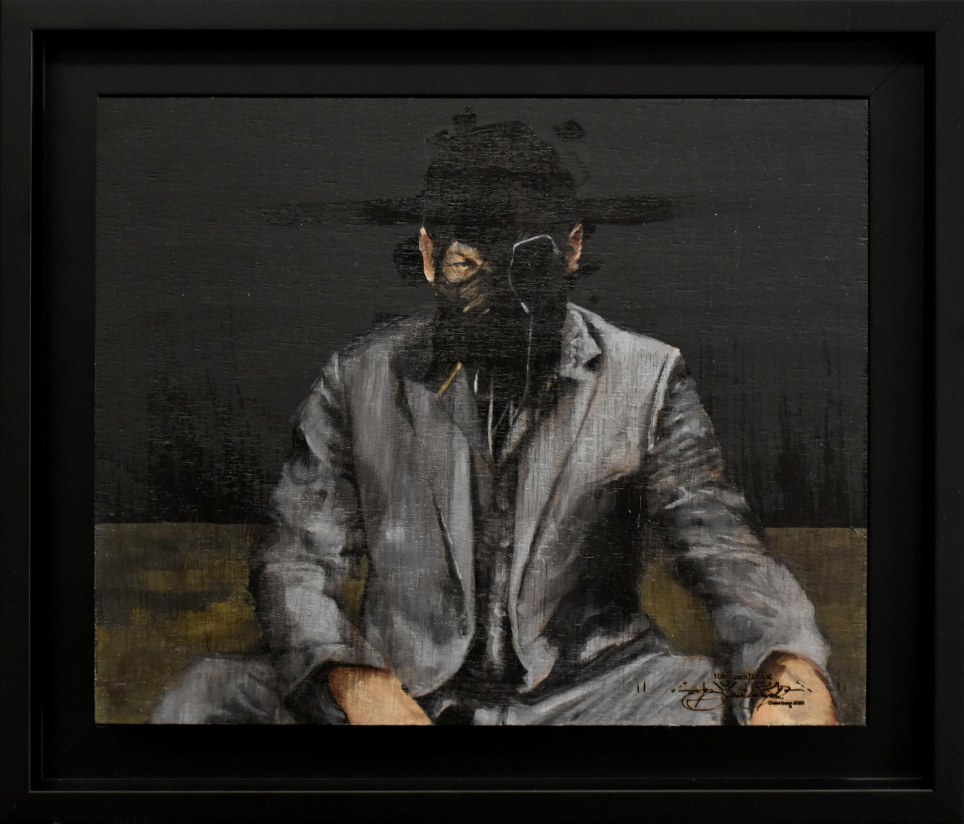 1060 Peinturlute 2019, Huile sur hÊTRE encadré, 29x34