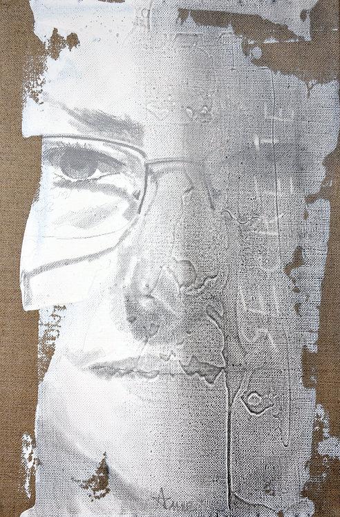 631 VANITE ANNE 2013, Graphite & acrylique sur lin, 41x27