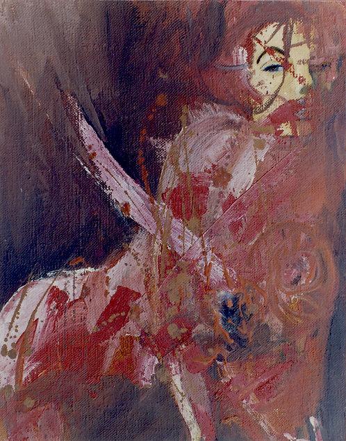 34 PEINTURE 1996, Huile sur toile, 41x32