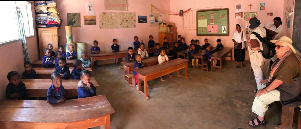 Classe de l'école d'Ilaka