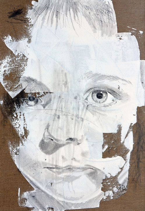 627 VANITE TOM  2013, graphite & acrylique sur lin, 73x50