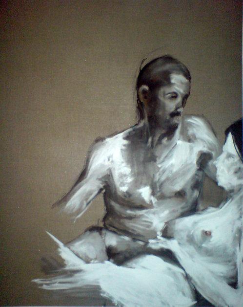 385 PEINTOMATON 2007, Huile sur toile, 125x100