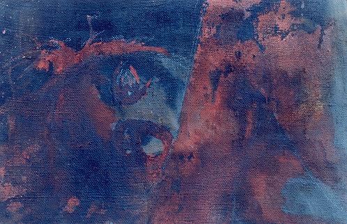 86 PEINTURE 1997, Huile sur toile, 42x28