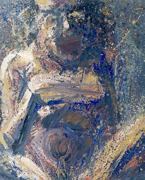 12 PEINTURE 1995, Huile sur toile, 73x60