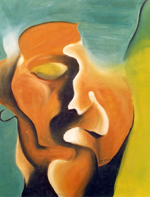 1 PEINTURE 1993, Huile sur toile, 73x60