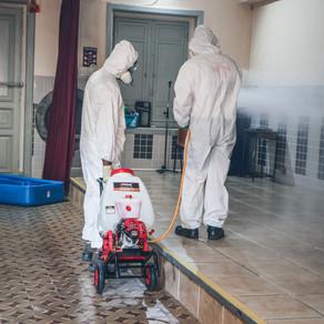 Desinfecção no Dispensário São Vicente de Paulo