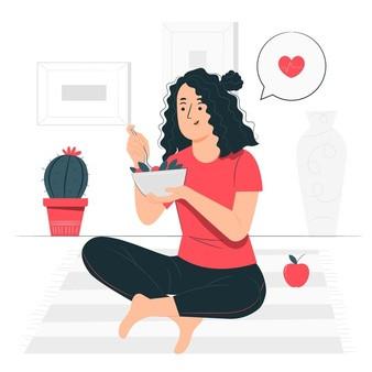 méditation, nourriture