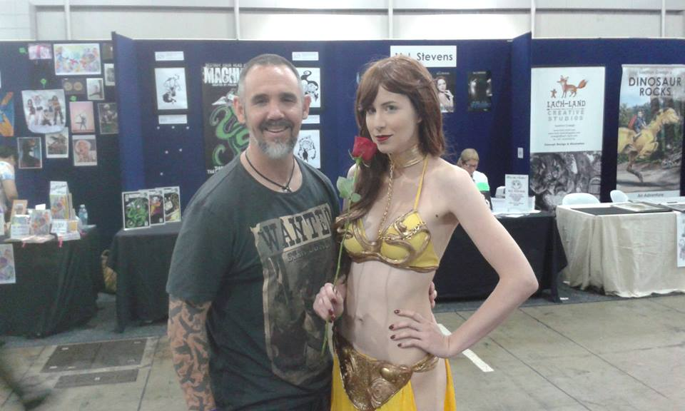 Marc Lindsay Author with cosplay