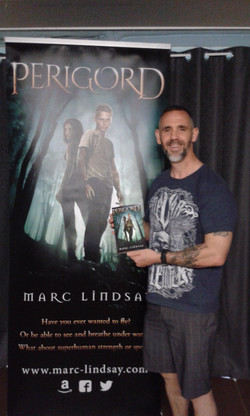 Marc Lindsay Author Banner and book