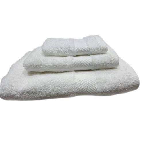Milano Hotel Stripe 3PC Towel Set - White