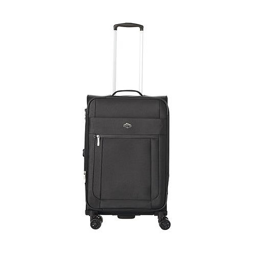 """Pacific Emerson Softside 100% Polyester 31"""" Expandable Spinner Upright -Black"""