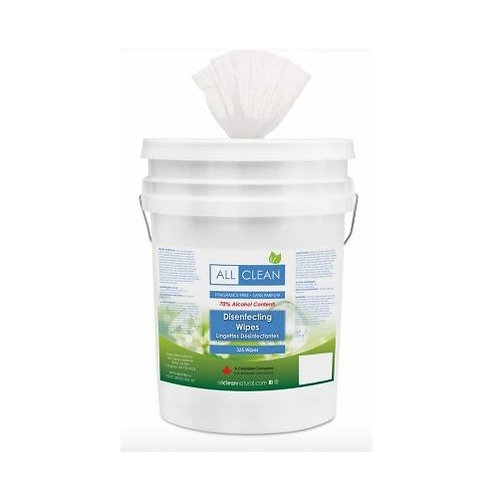ALL CLEAN Disinfecting Natural Wipes 2.25L - All Canadian Made