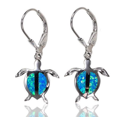 Bean & Vanilla Turtle Dangle Earrings