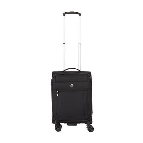 Pacific Emerson Softside 100% Polyester 21 inch Spinner Upright - Black