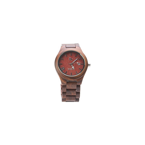 Bean and Vanilla Wave Rider - Red Sandalwood - Mens Wood Watch