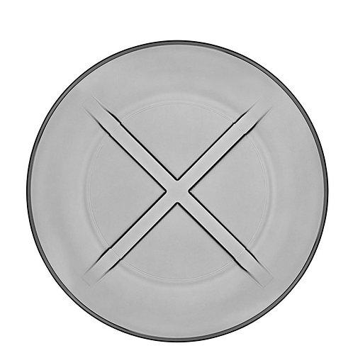 Kosta Boda Bruk Salad Plate Smoke Grey