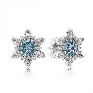 Pandora Crystallised Snowflake Stud Earrings