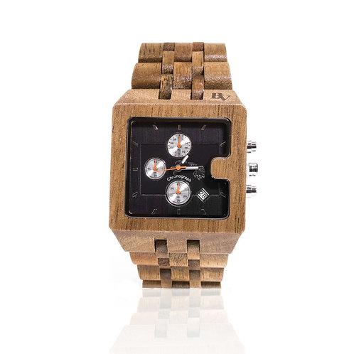 Bean and Vanilla Koa Wood Chronographs - Mens Wood Watch, Brown