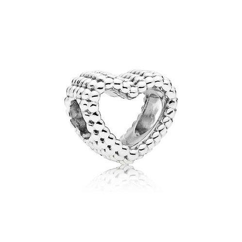 Pandora Beaded Heart Silver Charm