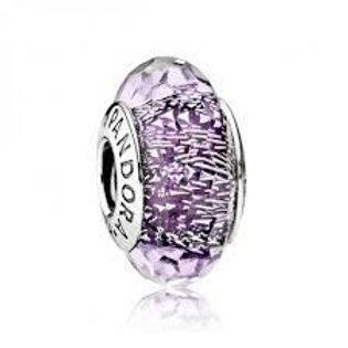 Pandora Dark Purple Shimmer Murano Charm