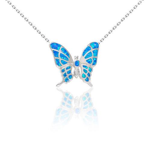 Bean & Vanilla Opal Pulelehua Butterfly Pendant ONLY