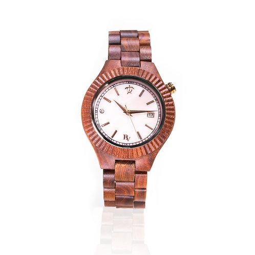 Bean and Vanilla Seashell - Red Sandalwood - Ladies Wood Watch