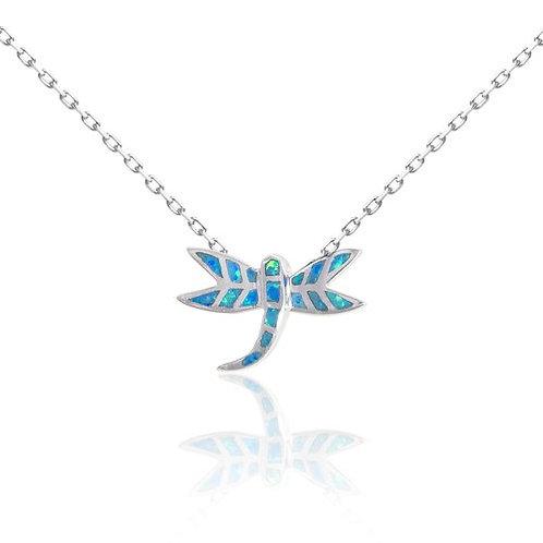 Bean & Vanilla Blue 15MM Opal Firefly Pendant ONLY