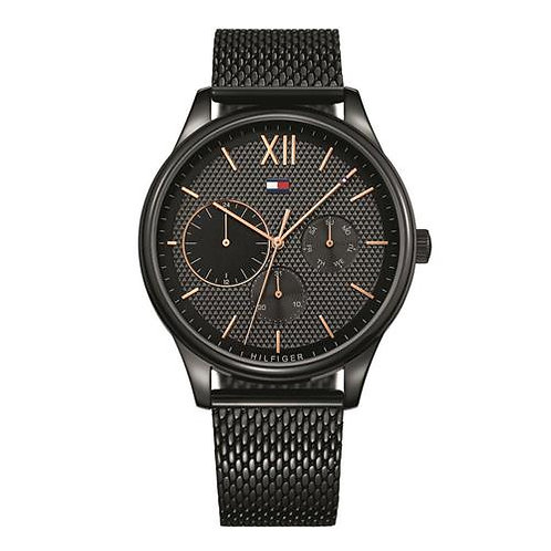 Tommy Hilfiger Black Multi-Eye Dial Watch
