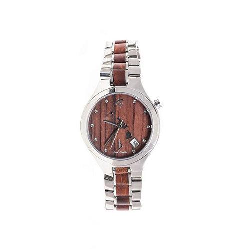 Bean and Vanilla Honu - Red Sandalwood with Stainless Steel - Ladies Wood Watch