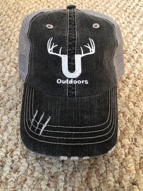 U Outdoors Distressed Grey Baseball Hat