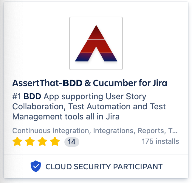 AssertThat's BDD & Cucumber for Jira plugin now qualifies for Cloud Security Participant badge through joining Atlassian's Bug Bounty program