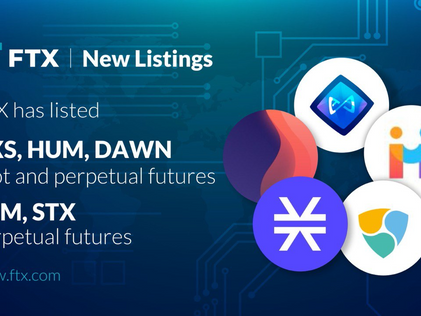 Dawn listed on FTX Exchange