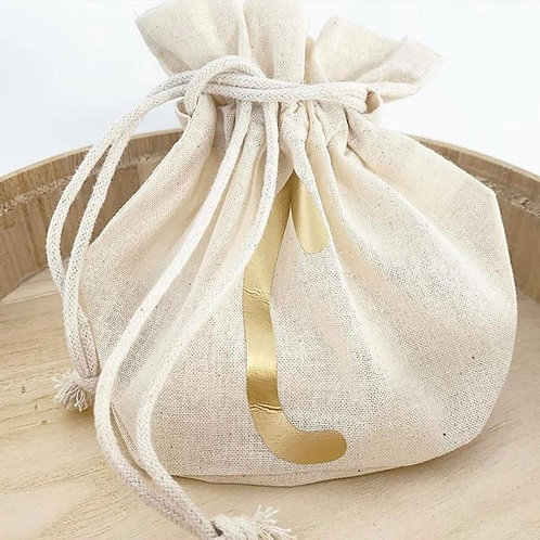 Personalized Initial Small Sack