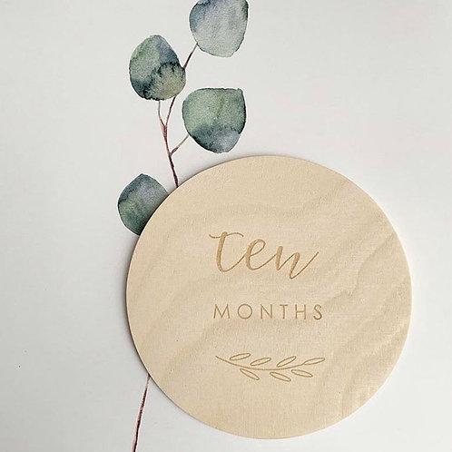 Memories of Me | Monthly Milestone Discs in Maple