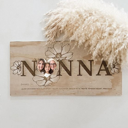 Personalized Photo Board  | Hand Painted Blooms