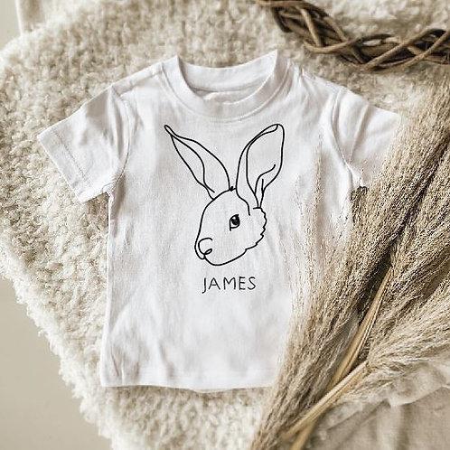 Bunny Line Darwing Onesie | Tshirt