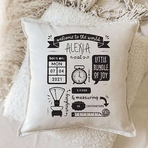 Cushion   Personalized Birth Detail