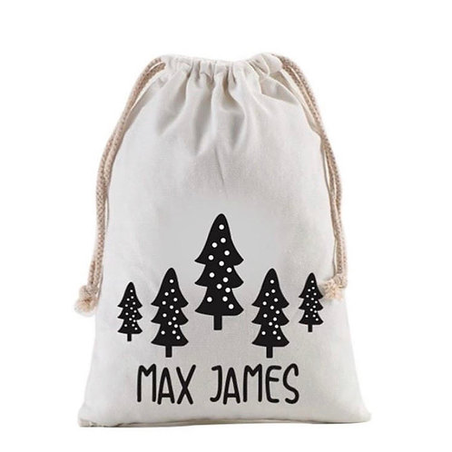 Personalized Gift Sack | Snowy Trees
