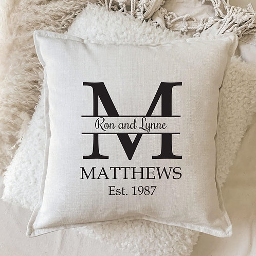 Cushion | Personalized Big Letter