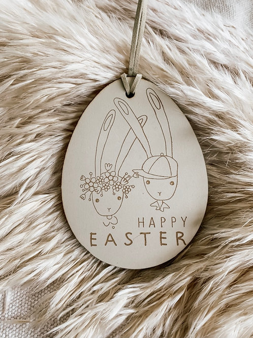 Happy Easter | Wooden Tag
