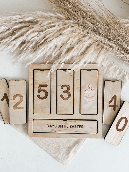 Personalized Countdown Board | Easter, Christmas, My Birthday, Our Holiday