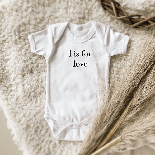L is for Love Onesie | Tshirt