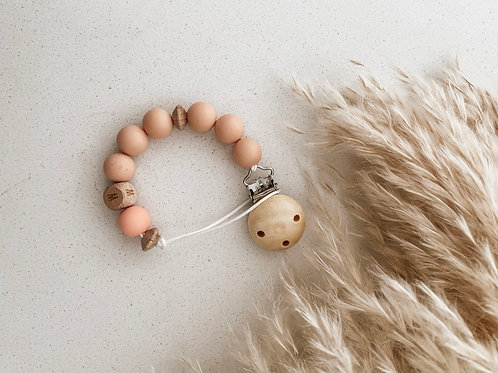 Personalized Pacifier Clip | Peach